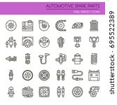 automotive spare part elements  ... | Shutterstock .eps vector #695522389