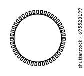sun icon . | Shutterstock .eps vector #695523199