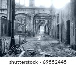 ruins of abandoned factory...