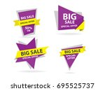colorful shopping sale banner... | Shutterstock .eps vector #695525737