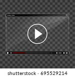illustration of video player... | Shutterstock .eps vector #695529214