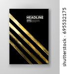 vector black and gold design... | Shutterstock .eps vector #695532175