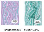 cover layouts collection with... | Shutterstock .eps vector #695540347