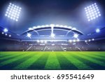 lights at night and football... | Shutterstock . vector #695541649