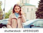 fashion beauty woman in stylish ...   Shutterstock . vector #695543185