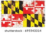 the flag of maryland | Shutterstock . vector #695543314