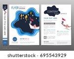 covers book design template... | Shutterstock .eps vector #695543929