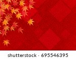 autumn leaves fall japanese... | Shutterstock .eps vector #695546395