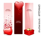 valentine's day banners or... | Shutterstock .eps vector #69554665