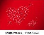 water background  valentine's... | Shutterstock .eps vector #69554863