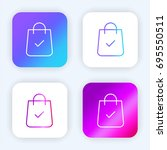shopping bag bright purple and...