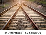 two rails are included in the... | Shutterstock . vector #695550901