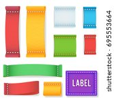 color label fabric blank vector....   Shutterstock .eps vector #695553664