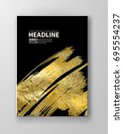 vector black and gold design... | Shutterstock .eps vector #695554237
