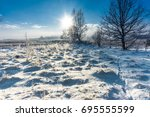 Winter Landscape With Snow On...