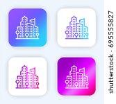 cityscape bright purple and...