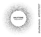 halftone circle frame with... | Shutterstock . vector #695557057