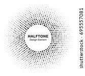 halftone circle frame with... | Shutterstock . vector #695557081