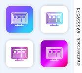 web design bright purple and...