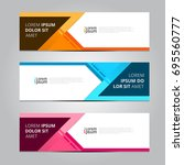 vector abstract design banner... | Shutterstock .eps vector #695560777