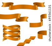 curled ribbons. collection of... | Shutterstock .eps vector #695561131
