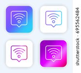 wifi bright purple and blue...