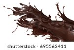 mixed splash of sweet chocolate ... | Shutterstock . vector #695563411