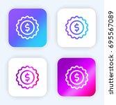 sticker bright purple and blue...