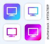 computer monitor bright purple... | Shutterstock .eps vector #695567809