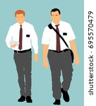 jehovah's witnesses in the... | Shutterstock .eps vector #695570479