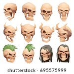 vector set of cartoon images of ...