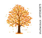 autumn fall tree | Shutterstock .eps vector #695582875