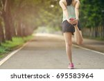 young healthy fitness woman...   Shutterstock . vector #695583964