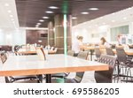 modern interior of cafeteria or