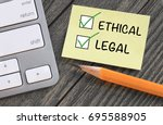 concept of being ethical and... | Shutterstock . vector #695588905