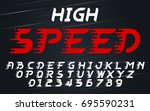 high speed faster movement set... | Shutterstock .eps vector #695590231