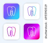 implants bright purple and blue ...