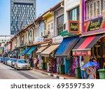 singapore   june 20  2014 ... | Shutterstock . vector #695597539