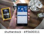 chiang mai  thailand   aug 14 ... | Shutterstock . vector #695600311