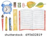 collection of hand drawn... | Shutterstock . vector #695602819