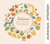 abstract seasonal decorative...   Shutterstock .eps vector #695604664