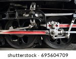 steam locomotive in umekoji... | Shutterstock . vector #695604709
