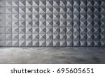 abstract empty concrete... | Shutterstock . vector #695605651