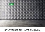 abstract empty concrete... | Shutterstock . vector #695605687