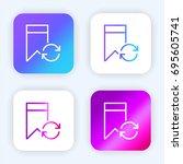 bookmark bright purple and blue ...
