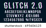 Glitch Distorted Font Letter...