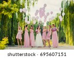 The Bride With Bridesmaids In...