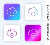 cloud computing bright purple...