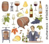 collection of vector images of... | Shutterstock .eps vector #695608129