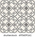 ornamental seamless vector... | Shutterstock .eps vector #695609161